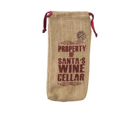 Husa pentru sticla Santa's Wine