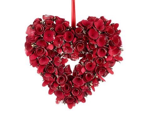 Decoratiune de usa Red Heart