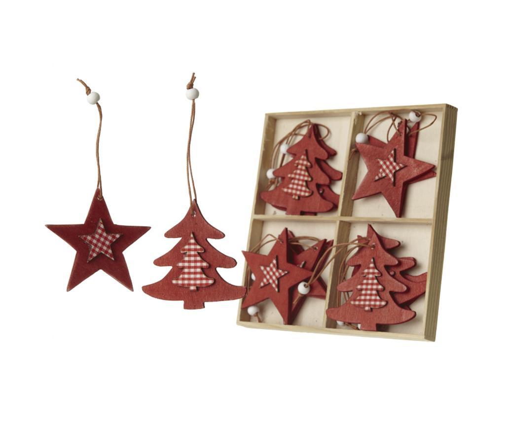 Set 12 visećih ukrasa Stars And Trees