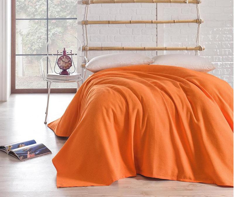 Cuvertura Pique Basic Orange 160x240 cm