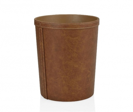 Alec Light Brown Leather Papírkosár