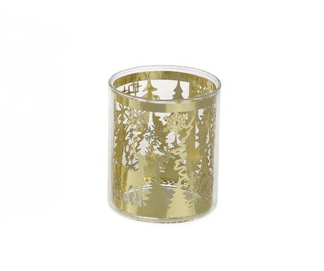 Gold Winter Gyertyatartó S