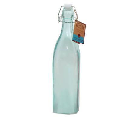 Kilner Clip Square Blue Üvegpalack hermetikus  dugóval 1 L
