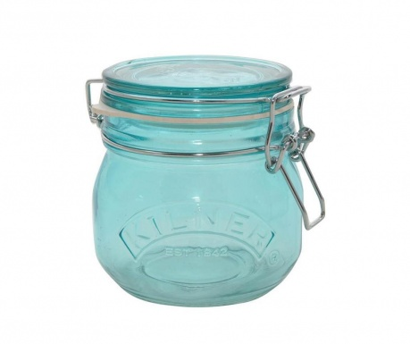 Kilner Clip Round Blue Befőttesüveg hermetikus fedővel 500 ml