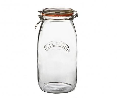 Clip Top Befőttes üveg   légmentesen záró  fedővel 3 L