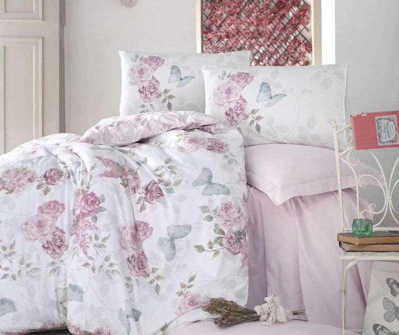 Спално бельо King Ranforce Rosella Pink 200x220