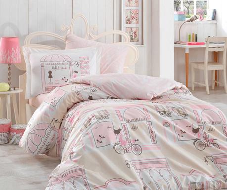 Спално бельо Single Poplin Sonia Pink
