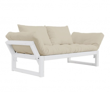 Sofa extensibila Edge White and Dove Grey