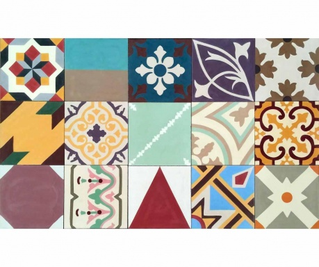 Линолеум Mix and Match  Geometric 80x48 см