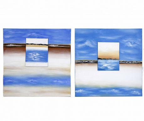 Set 2 tablouri Ocean View 60x60 cm