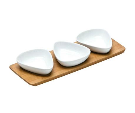 Комплект за аперитиви 4 части Snack Triangle