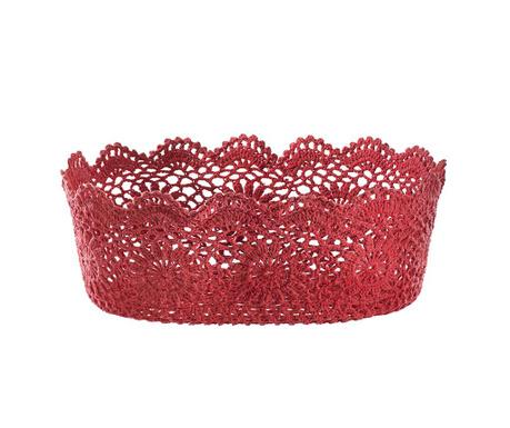 Cherry Crochet Kenyérkosár