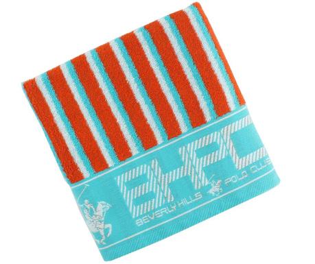 Ręcznik kąpielowy Stripes Red & Turquoise 50x100 cm