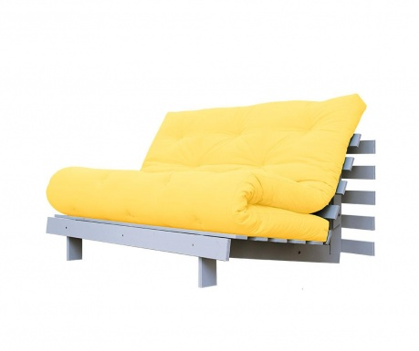 Sofa extensibila Roots White and Amarillo 140x200 cm