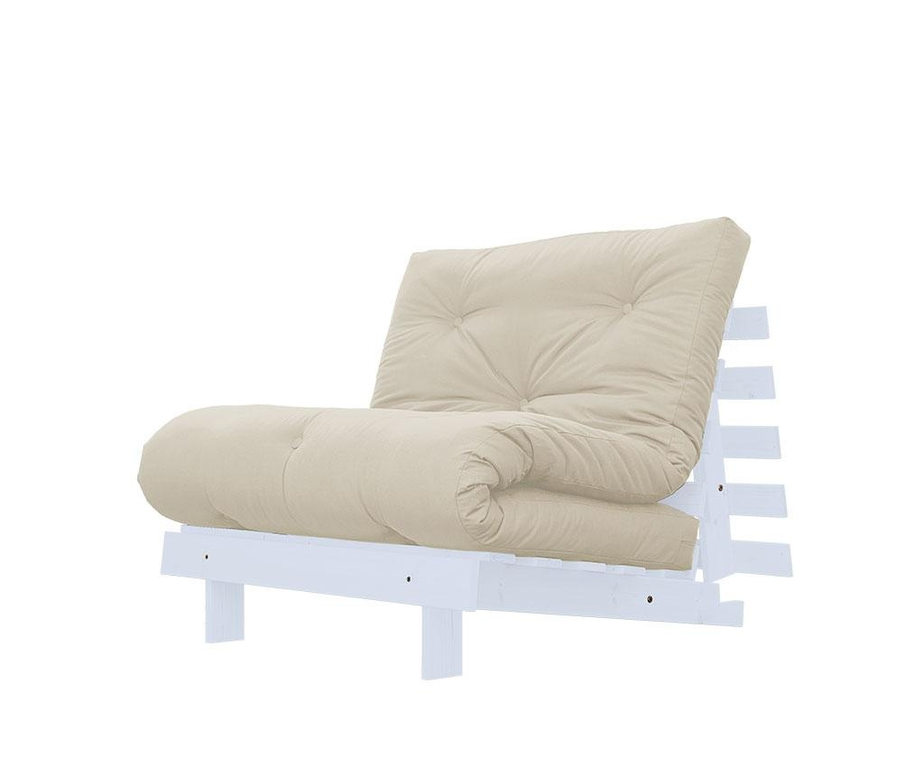 Sofa extensibila Roots White and Vision 90x200 cm