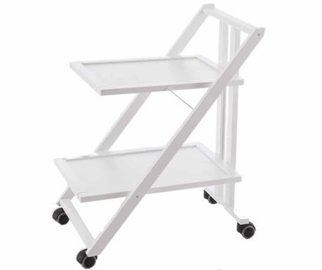 Сгъваема количка за сервиране Simpaty Off White