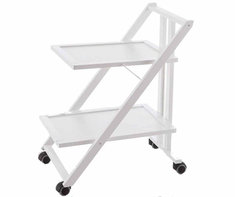 Sklopiva kolica za posluživanje Simpaty Off White
