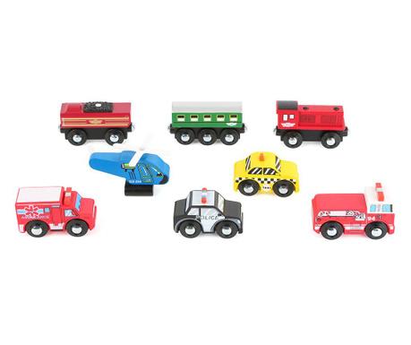 Zestaw 8 samochodzików zabawkowych Formula 1