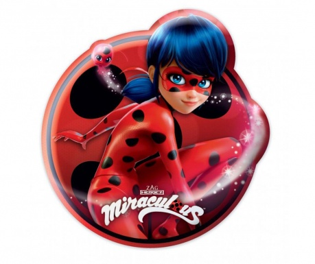 Perna decorativa Miraculous Girl Shape 28.5x30 cm