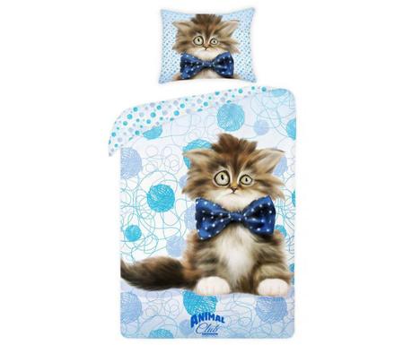 Posteľná sada Single Ranforce Animal Club Kitty