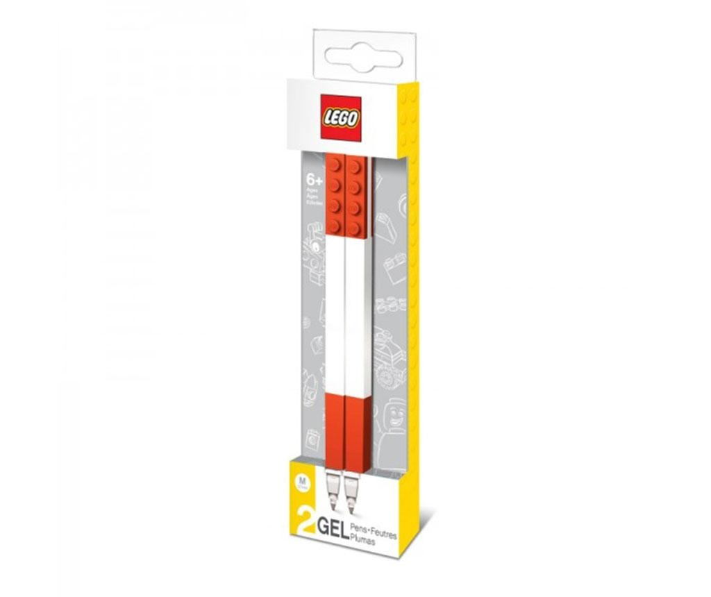 Set 2 pixuri cu gel Lego Star Red