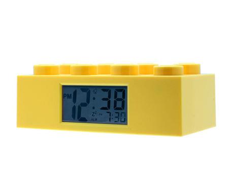 Budzik Lego Brick Monden Yellow