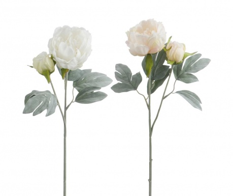 Set 2 flori artificiale Snowy Peony
