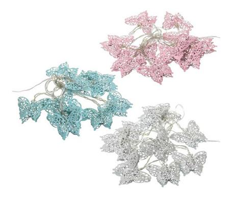 Set 3 svetlobnih girland Butterfly Azul