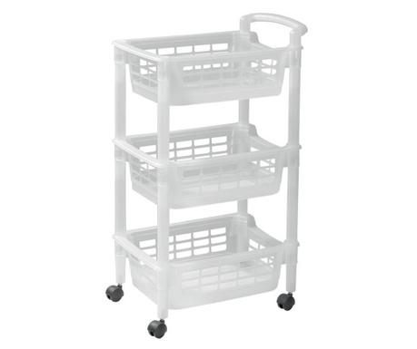 Zložljiv kuhinjski voziček Reverso White