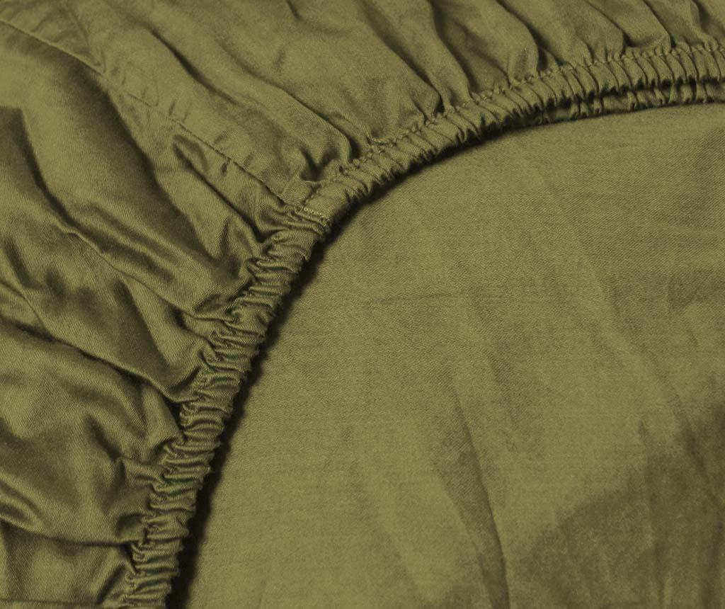 Plahta sa elastičnom gumicom Persey Burnt Olive 90x200 cm