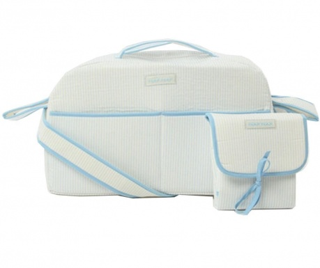 Sada taška a skládací matrace na přebalování Ladybird Blue