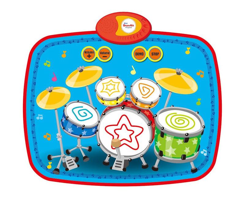 Glasbena podloga z aktivnostmi Mini Drum Kit 43x55 cm