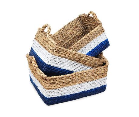 Set 3 cosuri pentru depozitare Bamboo Blue