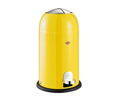 Odpadkový koš s víkem a pedálem Kickmaster Junior Yellow 12 L