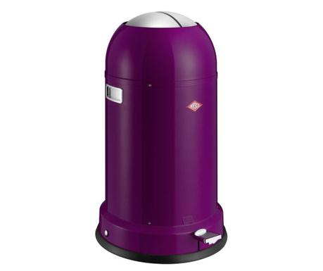 Kosz na śmieci z pokrywą i pedałem Kickmaster Classic Purple 33 L