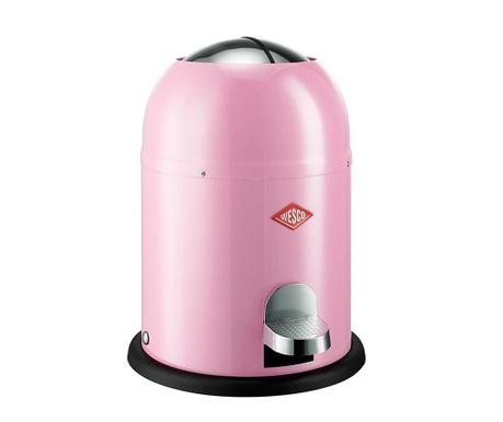 Odpadkový koš s víkem a pedálem Single Master Pink 9 L