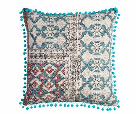 Dekorační polštář Blue Haze Embroidery 45x45 cm