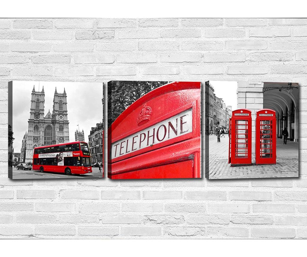 Set 3 slike London 30x30 cm