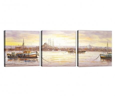 Set 3 slik Morning Light 30x30 cm