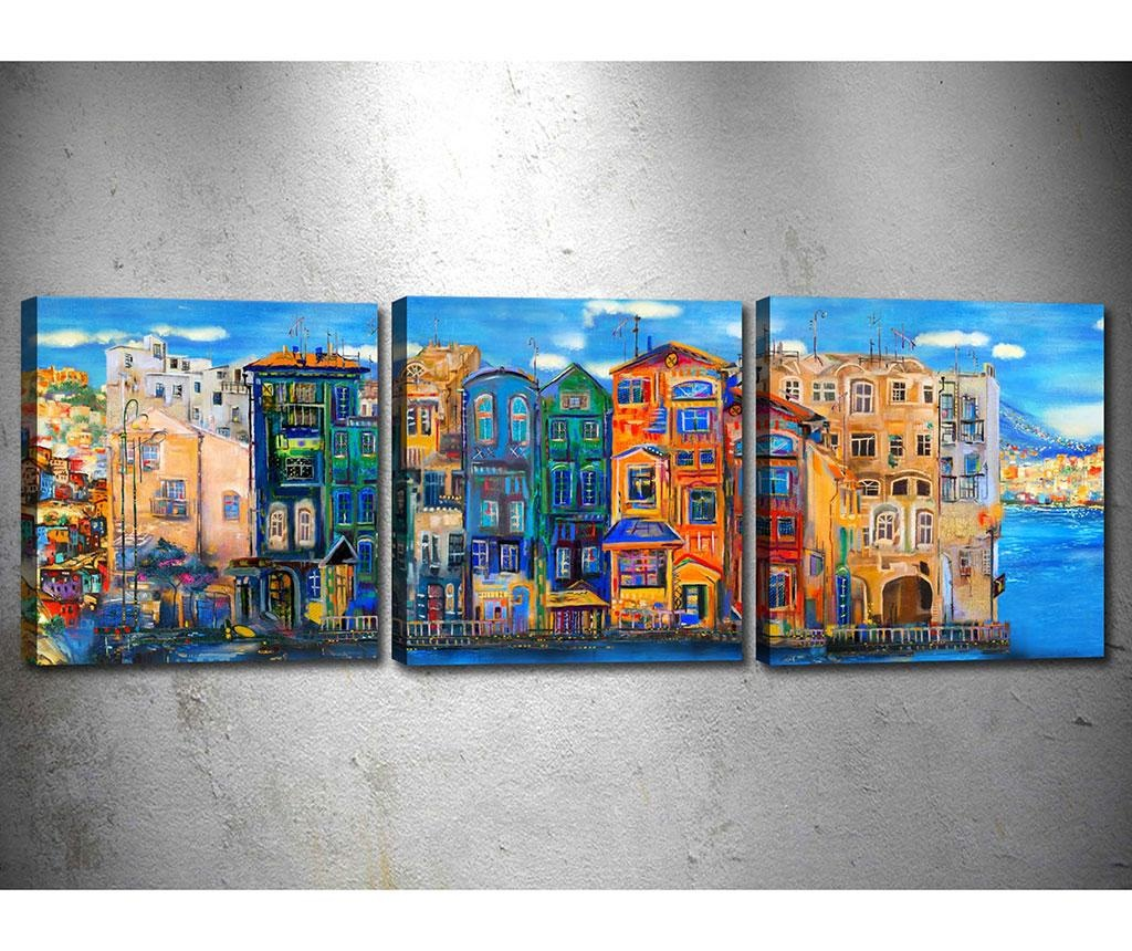 Set 3 tablouri City View 30x30 cm