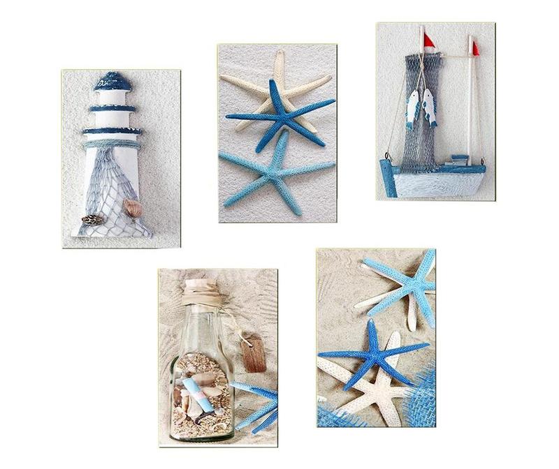 Set 5 tablouri Blue Sea 20x30 cm
