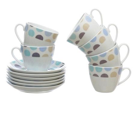 Сервиз 6 чашки и 6 чинийки Sinthya Blue Andy