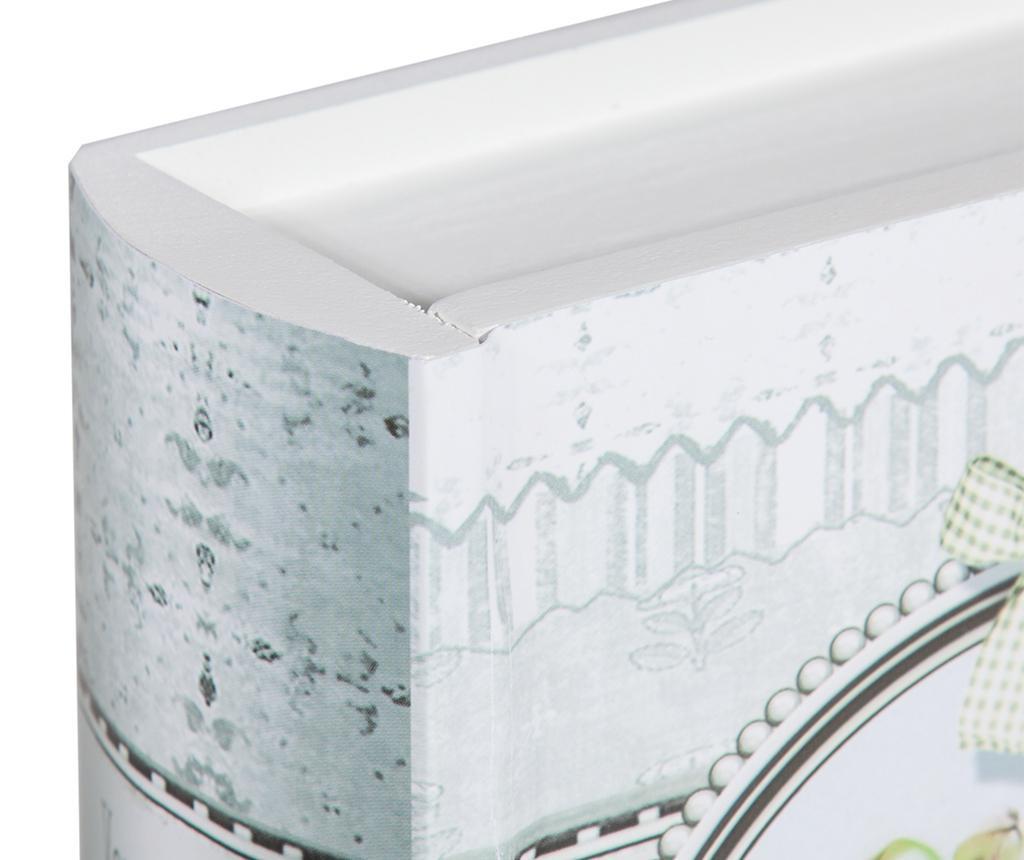 Set 2 cutii tip carte pentru accesorii de cusut Romantic