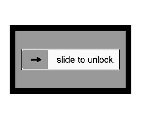 Wycieraczka Slide to unlock 40x70 cm