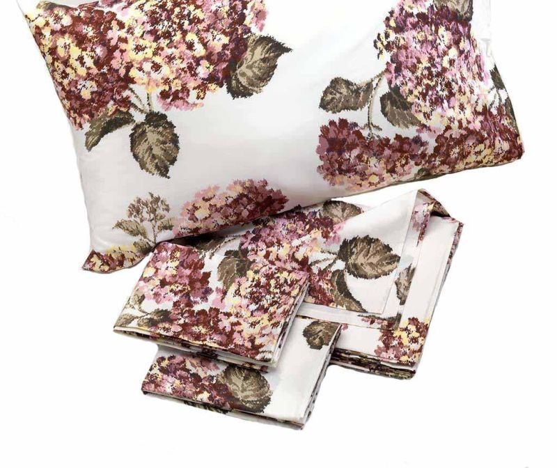 Set de pat Double Extra Percale Ortensia Old Pink