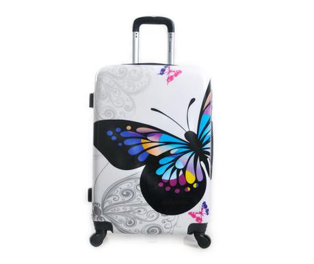 Auckland Print White Gurulós bőrönd