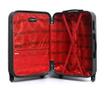 Bucharest Black Gurulós bőrönd 30.4  L