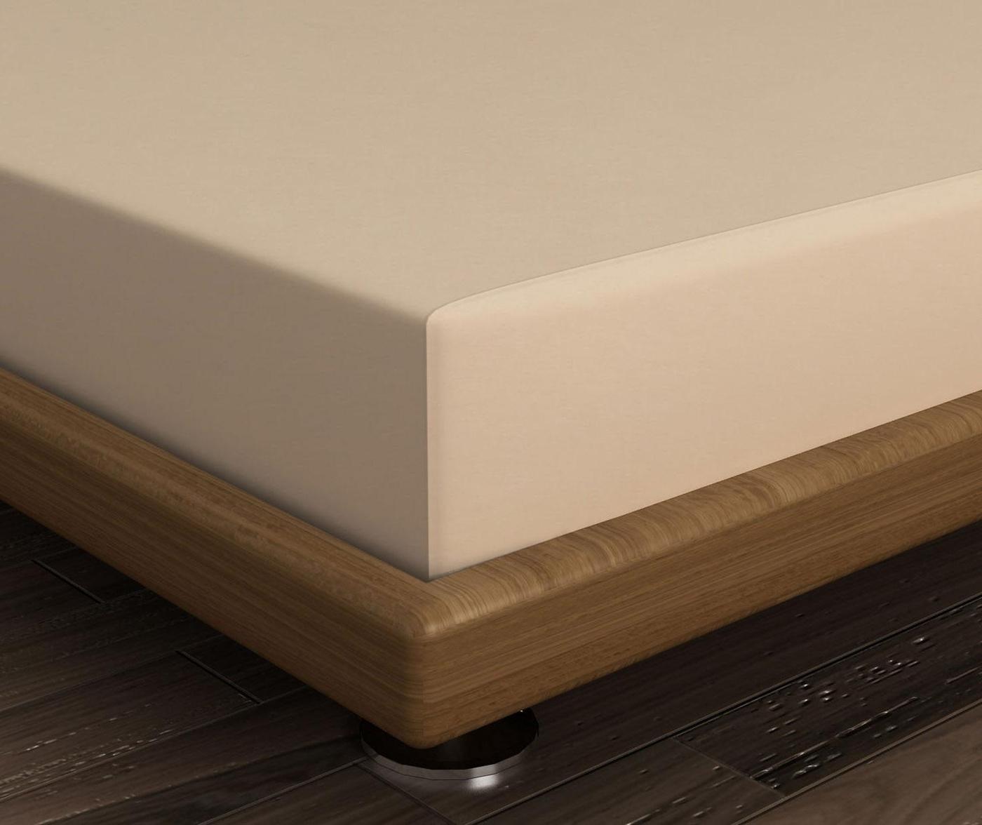 Cearsaf de pat cu elastic Mini Beige 160x200 cm