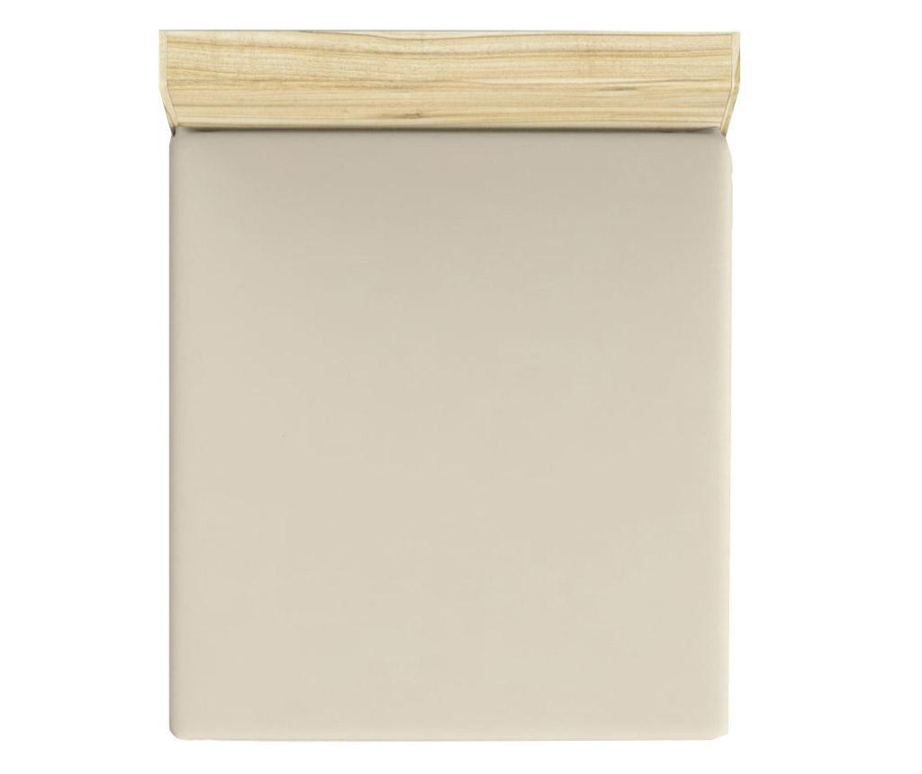 Cearsaf de pat cu elastic Mini Cream 180x200 cm
