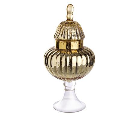 Декоративен съд с капак Spicchi Gold